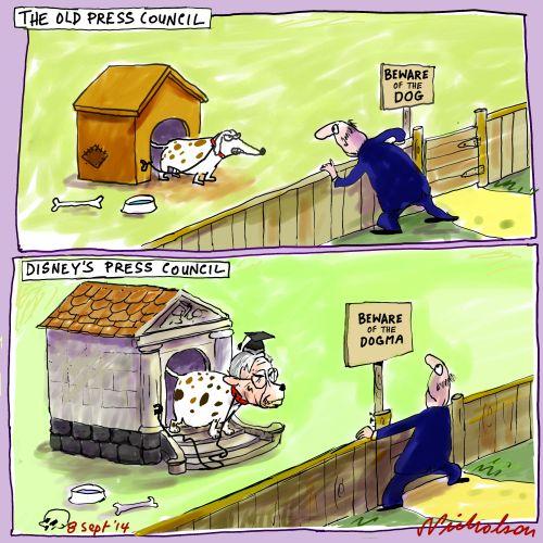 Press Council watchdogs Julian Disney Media cartoon 2014-09-08