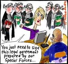 Julie Bishop begs to get troops into Iraq cartoon 2014-10-20