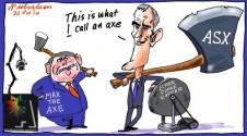 Max the Axe and Elmer Margin Call cartoon 2014-10-22