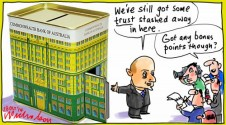 Narev of CBA still getting grief over trust deposits scandal Cartoon 2014-10-28