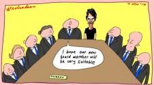 Sampson on Fairfax board Margin Call cartoon 2014-11-07