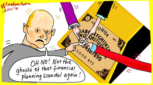 Narev CBA finds ghosts Margin Call cartoon 2014-11-13