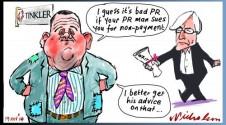 Tinkler makes bad PR with PR man Margin Call cartoon 2014-11-19