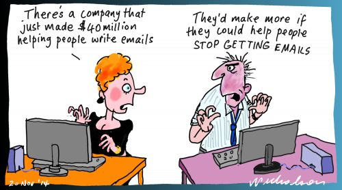 Campaign Monitor email maker mints money Margin Call cartoon 2014-11-20