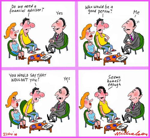 FOFA financial adviser how to choose one Business cartoon 2014-11-22