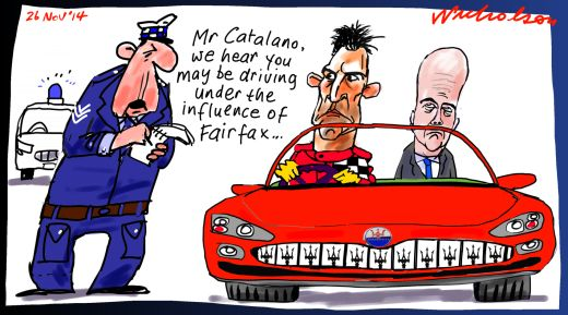 Catalano Fairfax influence Margin call cartoon 2014-11-26