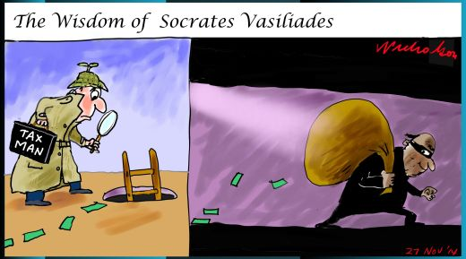 Socrates Vasiliades freeze order margin Call cartoon 2014-11-27