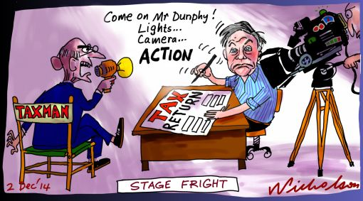 Frank Dunphy lights camera action Margin Call cartoon 2014-12-02
