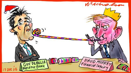 Murray rasberry for Debelle Reserve Bank Margin Call cartoon 2014-12-17