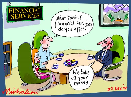 Financial services rogues business cartoon 2014-12-22