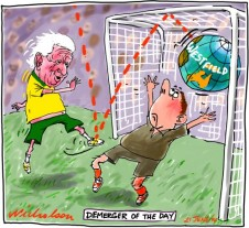 Lowy goal on Westfield Demerger Business cartoon 2014-6-21
