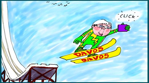 Rudd in Davos Margin Calll business cartoon 2015-01-16