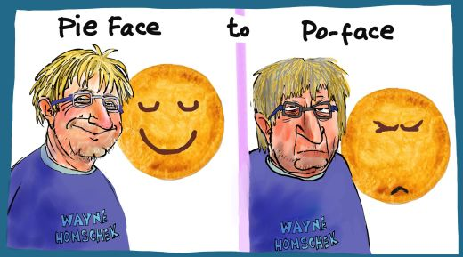 Wayne Homschek Pie Face Margin Call business cartoon 2015-01-22