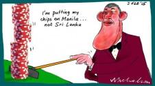 James Packer Sri Lanka Margin Call business cartoon 2015-02-03