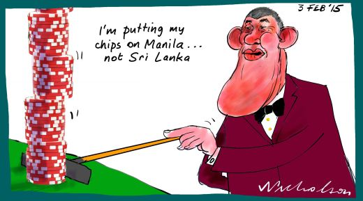 James Packer Sri Lanka Margin Call business cartoon 2015-02-03