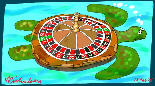 Spit casino ecological values threatened Margin Call business cartoon 2015-02-13