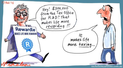 Rewardle tax office Marginn Lending business cartoon 2015-02-17