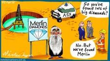Joe Gutnick Merlin diamond mine Marginn Call business cartoon 2015-02-25