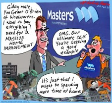 O'Brien Woolworths Masters Margin Call cartoon 2015-02-28