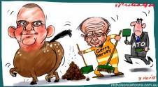 NathanTinkler Gerry Harvey ATO horse droppings Margin Call cartoon 2015-03-03