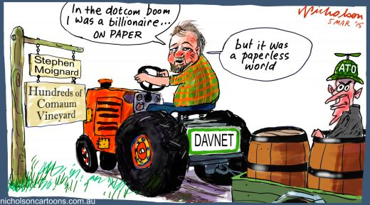 Steve Moignard paperless DAV/NRT Margin Call cartoon 2015-03-05