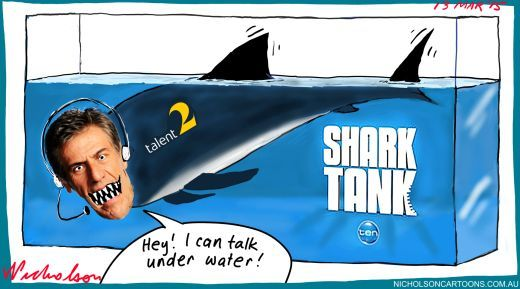 Andrew Banks Shark Tank Margin Call cartoon 2015-03-13