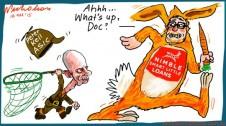 Peter Kell ASIC tackles Nimble loans Margin Call cartoon 2015-03-18