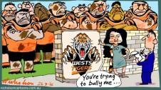 Wests Tigers Go bullied Margin Call cartoon 2015-03-26