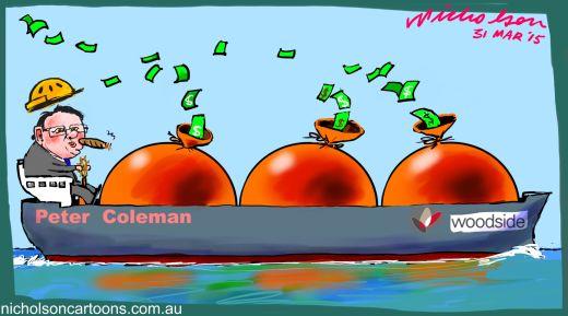 Peter Coleman of Woodside gets big pay  2015-03-31