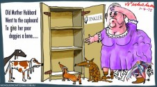 Nathan Tinkler Old Mother Hubbard Margin Call Australian cartoon 2015-04-01