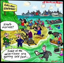 Gallipoli centenary media extravaganza Australian Media cartoon 2015-04-06