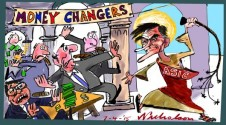 Greg Medcraft goes for forex money changers temple Margin Call Australian cartoon 2015-04-07
