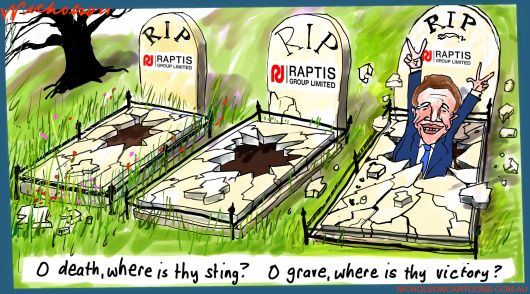 Raptis Group back in court third try Matgin Call Australian cartoon 2015-04-09