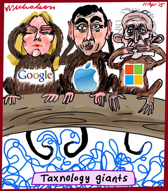 Google Apple Microsoft highly skilled tat technology of how to handle Australian business cartoon 2015-04-11