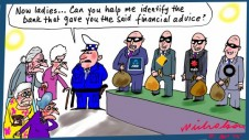 Banks to be grilled Senate on financial advice  issue Margin Call cartoon Australian 2015-04-21
