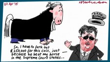 Sean Buckley horse problem  $250,000 costs Margin Call cartoon Australian 2015-04-22