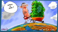 James Packer on prowl for investment opportunitues Margin Call Australian cartoon 2015-05-06