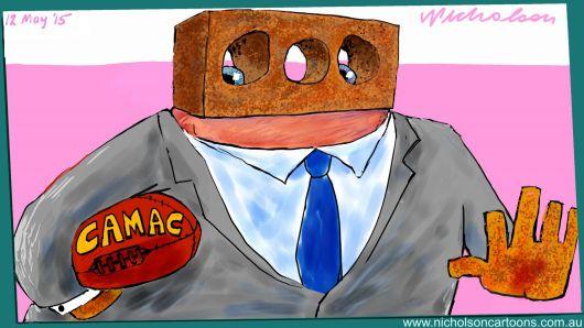 Glen Lazarus CAMAC Bill in Senate  Margin Call Australia cartoon 2015-05-11