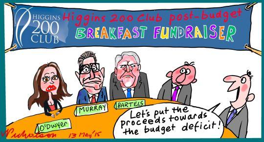 Kelly O'Dwyer post-budget breakfast Margin Call cartoon  2015-05-13