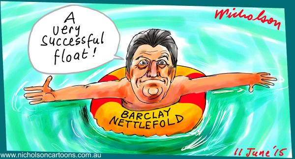 Barclay Nettlefold floats QMS second go Margin Call Australian cartoon business 2015-06-11