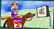 Kerry Stokes deal with Victoria Racing for Sky rights king of horses  Margin Call Australian business cartoon 2015-06-23