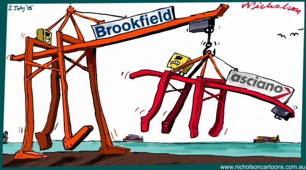 Brookfield may take over Asciano Margin Call cartoon Australian business 2015-07-02