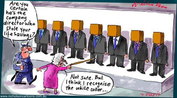 Governance Institute ASIC lineup directors Margin Call cartoon Australian 2015-07-07
