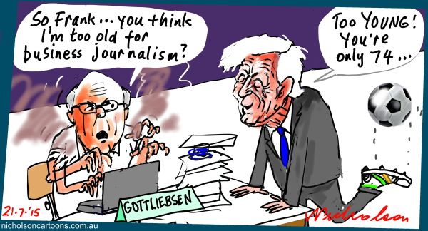 Gottliebsen too young Lowy too old Margin Call Australian cartoon 2015-07-21