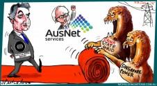 Macquarie red carpet Ausnet China State Singapore Margin Call Australian cartoon