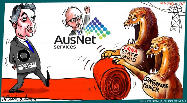 Macquarie red carpet Ausnet China State Singapore Margin Call Australian cartoon