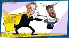 Mark Bouris to the rescue champion apprentice  Gyngell Channel Nine cartoon Margin Call Australian 2015-09-01