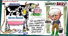 Gerry Harvey buys into dairy 2015-09-03