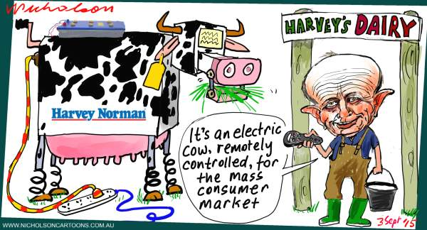Gerry Harvey buys into dairy 2015-09-03