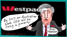 Brian Hartzer Westpac makes big promises cartoon Margin Call Australian 2015-09-08